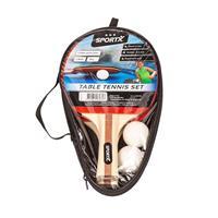 2x Tafeltennis Batjes Sport Set Met 2 Ballen - Ping Pong Spelen