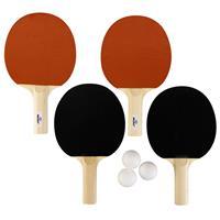 Tafeltennis Set Met 3 Ballen En 4 Batjes 1 Ster - Sportief Binnen En Buiten Speelgoed