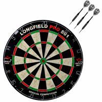Longfield Games Dartbord Set Compleet Van Diameter 45.5 Cm Met 3x Black Arrow Dartpijlen Van 25 Gram porten Darts
