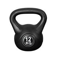 IVOL Kettlebell Voor Binnen En Buiten - Kunststof - Zwart - 12 Kg
