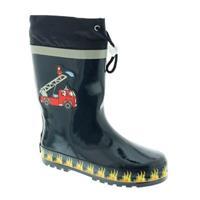 Playshoes Rubber laarzen brandweerbrigade - Blauw - - Jongen
