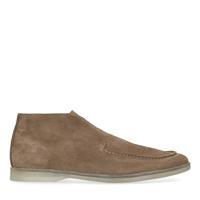 Manfield Taupe suède instappers