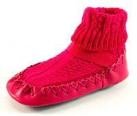 Stoute-schoenen.nl Bardossa sokpantoffels Fuchsia BAR04