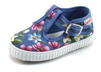 Stoute-schoenen.nl Cienta 51023 t-band bloem Grijs CIE13