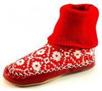 Stoute-schoenen.nl Litha sloffen Rood LIT01