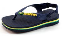 Stoute-schoenen.nl Havaianas slippers Baby Brasil logo Blauw HAV01