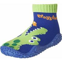Playshoes Aqua sok krokodil marine - Blauw - - Meisjes