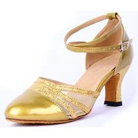 newchic Sequins Mary Jane Mid Heel Strap Buckle Pumps