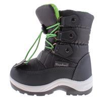 Playshoes snowboots met koord junior grijs/groen /21