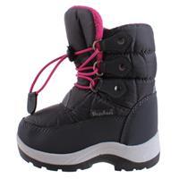 Playshoes snowboots met koord junior grijs/roze /25