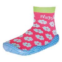 Playshoes zwemsokken meisjes bloemetjes roze/blauw /21
