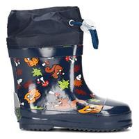 Playshoes korte regenlaarzen bosdieren blauw
