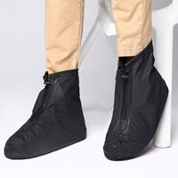 newchic Men Waterproof Slip Resistant Front Zippers Ankle Rain Boots Covers