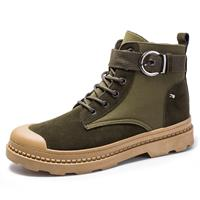 newchic Men Fabric Anti-collision Metal Buckle Outdoor Casual Tooling Boots