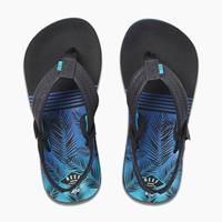 Reef Little Ahi teenslippers zwart/blauw