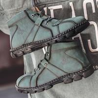 newchic Men Hand Stitching Hook-loop Casual Not-slip Boot Shoes