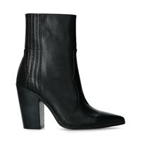 Sacha Zwarte western boots met snakeskin  - zwart
