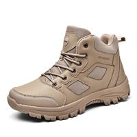 newchic Men Outdoor Microfiber Leather Slip Resistant Hiking Boots