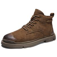 newchic Men Synthetic Suede Outdoor Slip Resistant Work Style Ankle Boots