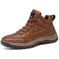 newchic Men Outdoor High Top Climbing Slip Resistant Lace-up Hiking Boots