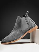 newchic Men Stylish Suede Pointed Toe Ankle Chelsea Boots