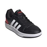 adidas Hoops 2.0 sneakers zwart/rood kinderen Kinderen
