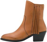 Y.A.S Frina leather boots biscuit/fringes