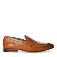 Manfield Cognac leren loafers