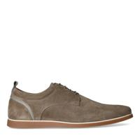 Manfield Taupe suède veterboots