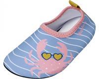 Playshoes waterschoen Krebs meisjes antislip roze/blauw  23