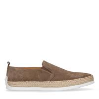 Manfield Taupe suède loafers