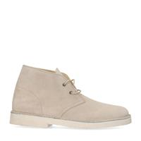 Sacha Off white suède veterboots  - wit