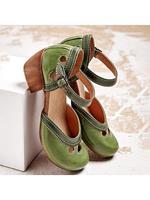 BERRYLOOK Women's retro block heel sandals