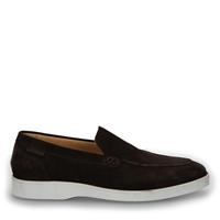 Manfield Bruine suède loafers