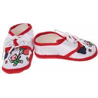 Junior Joy Babyschoenen Newborn Junior Wit/rood Met Beertje