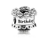 """Pandora Zilveren Bedel""""Happy Birthday"""""""