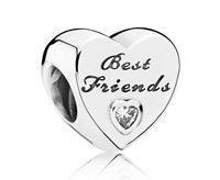 Pandora Bedel Vriendschapshartje