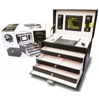 Notspecified Luxe Sieradenbox - 7 compartimenten - Kunstleer - Zwart