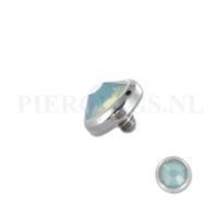Piercings.nl Dermal balletje 1.2 mm opaal groen