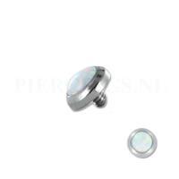 Piercings.nl Dermal balletje 1.2 mm opaal multi glans