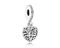 Pandora Hangbedel zilver 'Padlock/Sleutel tot je hart' 791876CZ
