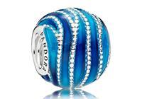 Pandora Bedel zilver Blue Swirls 797012ENMX