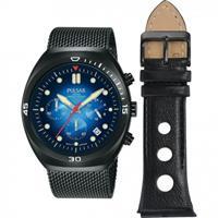 pulsar heren horloge met extra band PT3951X2