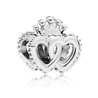 Pandora Bedel zilver United Regal Hearts 797670