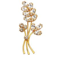 Golden style Broche  Wit