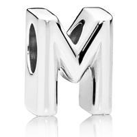 Pandora Letter M bedel van zilver 797467