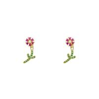 Studs strass bloemetje