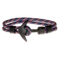 lgtjwls LGT Jewels Anker armband Zwart Blauw Rood