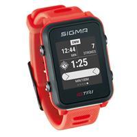 Sigma sporthorloge iD.TRI Neon rood