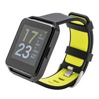 XD Collection lifestyle horloge 4,1x26 cm siliconen zwart/groen